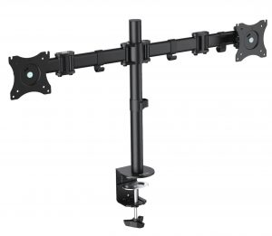 DMCA220_ArticulatingArmsMount-1-300x261 Dual Monitor Mounts